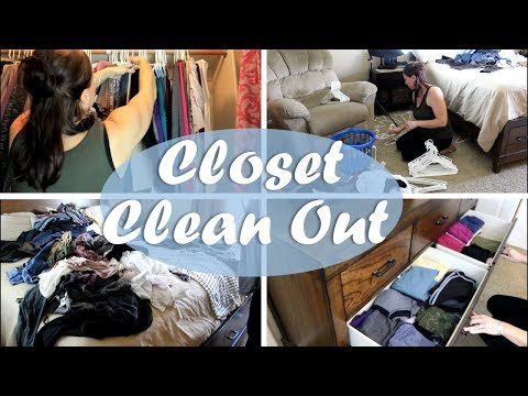 CLOSET CLEAN OUT | PURGING AND ORGANIZING | DECLUTTER