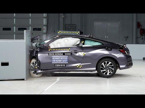 2016 Honda Civic driver-side small overlap test