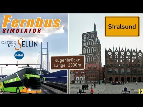 FERNBUS SIMULATOR [60 FPS] #031 - STRALSUND: links RÜGEN, rechts USEDOM 😁