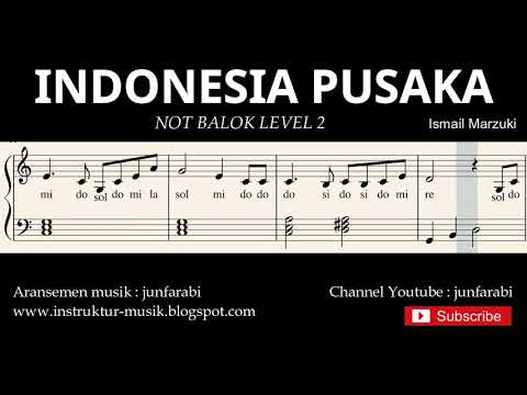 not piano indonesia pusaka - notasi balok level 2 - lagu wajib nasional - do re mi / sol mi sa si
