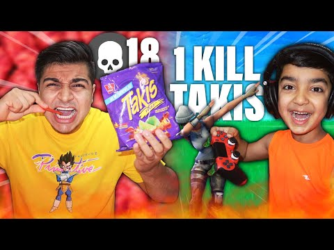 1 KILL = EXTREME TAKIS FUEGO WITH NO WATER CHALLENGE! | EATING TAKIS FOR EVERY KILL IN FORTNITE