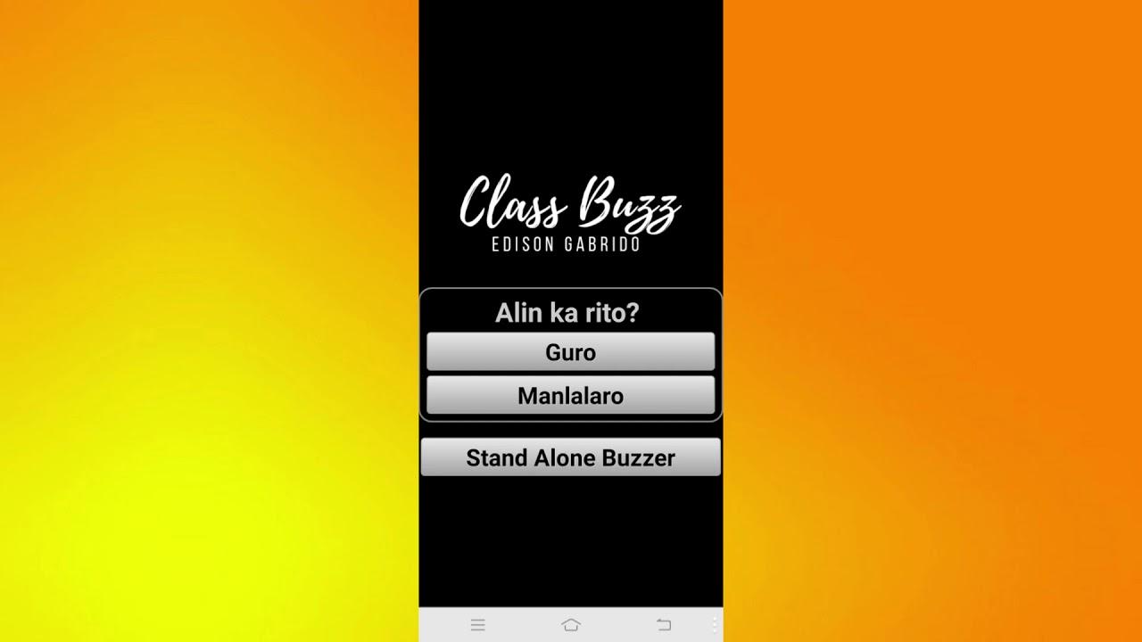 Class Buzz App – Classroom Game Buzzer by Edison Gabrido