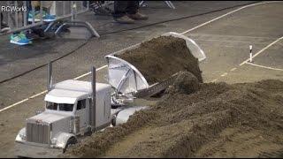 RC Truck LKW Peterbilt 1/8 unloading Construction Site ♦ Faszination Modellbau Friedrichshafen