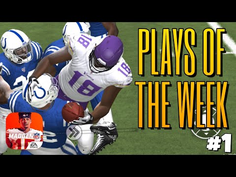PLAYS OF THE WEEK MADDEN MOBILE 20 #1!