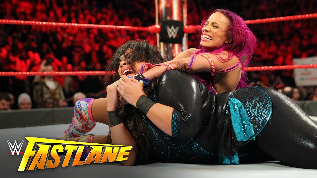 Image result for sasha banks vs nia jax fastlane 2017