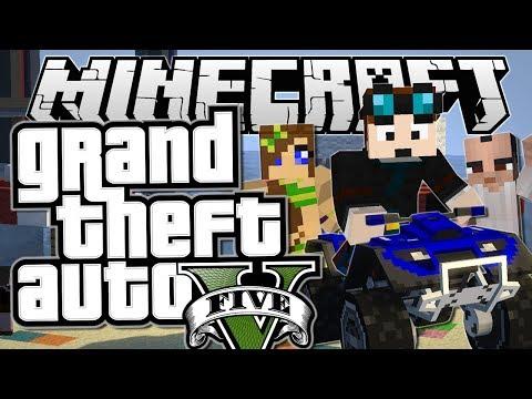 Minecraft   Grand Theft Auto (GTA)   QUAD BIKES, PRANKS & HOBOS   Mods Showcase [Funny Moments]