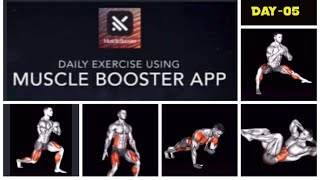 How to do less than 10 minute simple daily exercise at home using Muscle Booster app - Day 5 screenshot 5