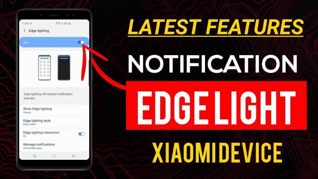 now get edge notification light like samsung galaxy note 10 on your xiaomi device
