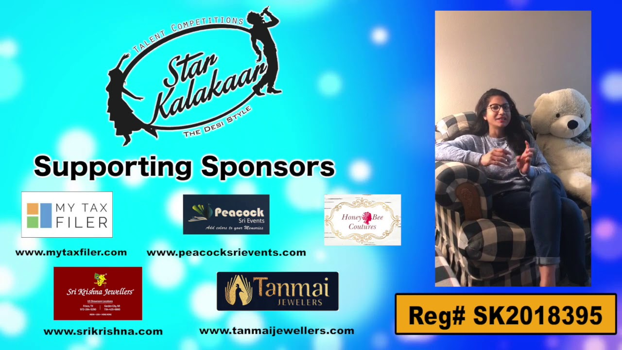 Participant Reg# SK2018-395 Introduction - US Star Kalakaar 2018 || DesiplazaTV