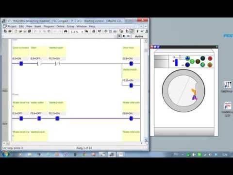 PLC programming: Washing machine (EasyVeep)