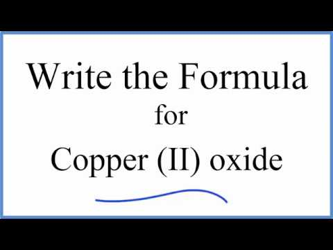 How to Write the Formula for Copper (II) oxide