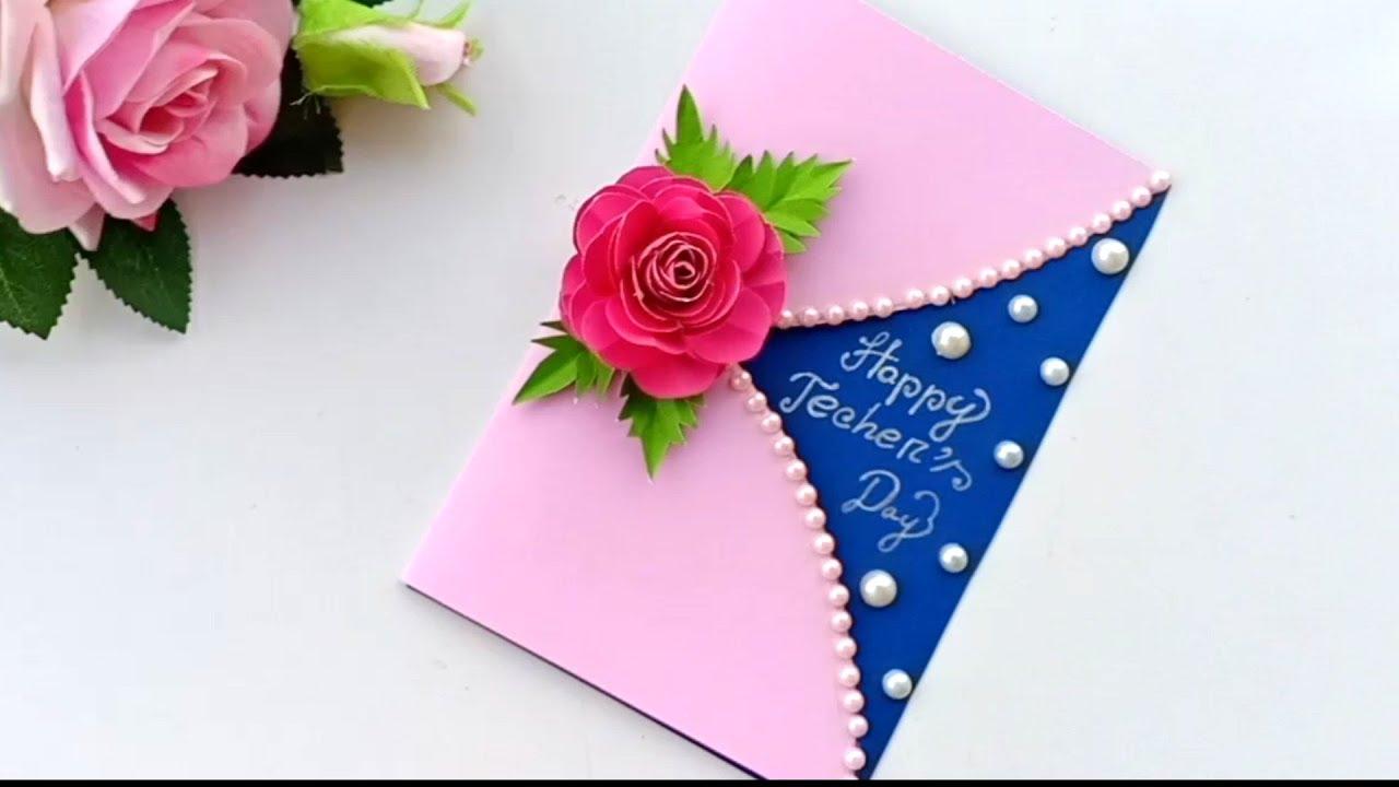 Diy Teacher S Day Card Handmade Teachers Day Card Making Idea Youtube Teachers Day Card Cards Handmade Simple Cards Handmade