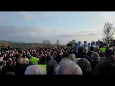 Amhrán na bhFiann was played and sung at the grave of Martin McGuinness and it was something special