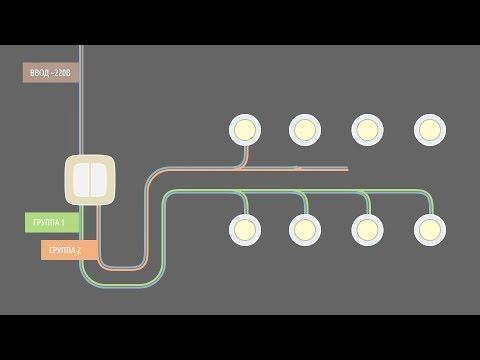 Способы подключения светильников в жилых зданиях