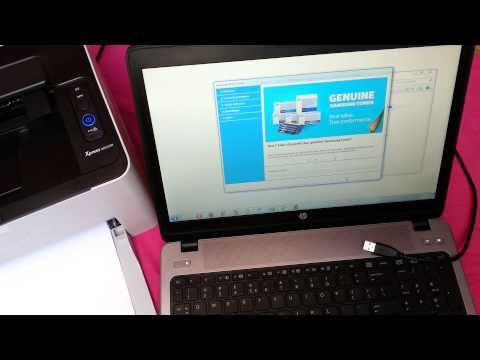 M2022W installation and wireless printing