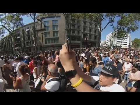 360 Video | Spain shows defiance of terror by holding solidarity march on Las Ramblas