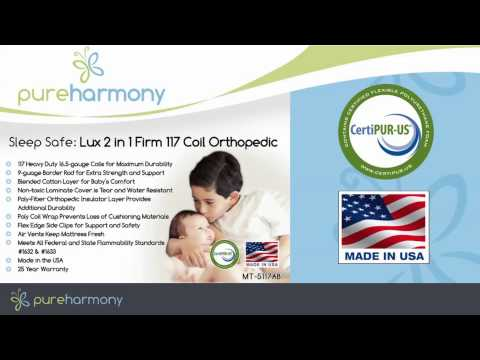 Pure Harmony Sleep Safe Lux 2 in 1 Firm 117 Coil Orthopedic Crib Mattress