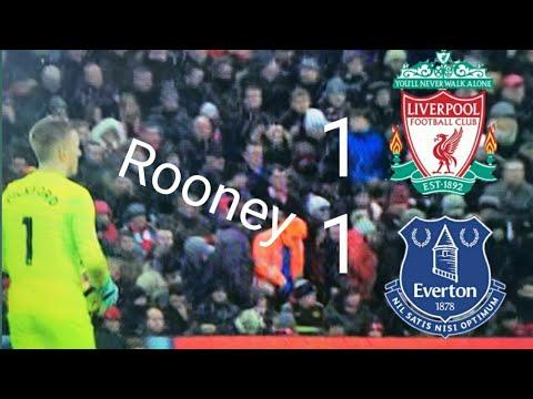 Liverpool vs Everton 1–1 Rooney penalty