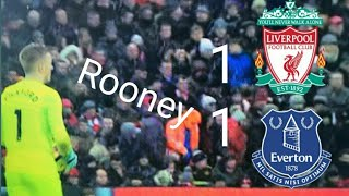 Liverpool vs Everton 1–1 Rooney penalty