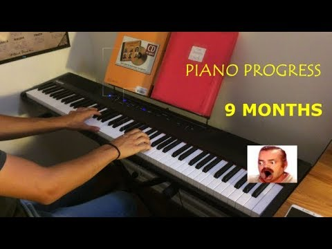 PIANO PROGRESS (9 MONTHS)  - FROM BEGINNER TO FANTAISIE IMPROMPTU