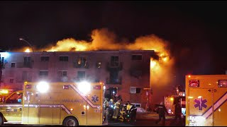 Fire : 3 dead and 11 injured / 3 morts et 11 blessés - Longueuil, Canada 09-02-19