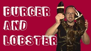 Burger And Lobster - Eating A Gigantic Lobster
