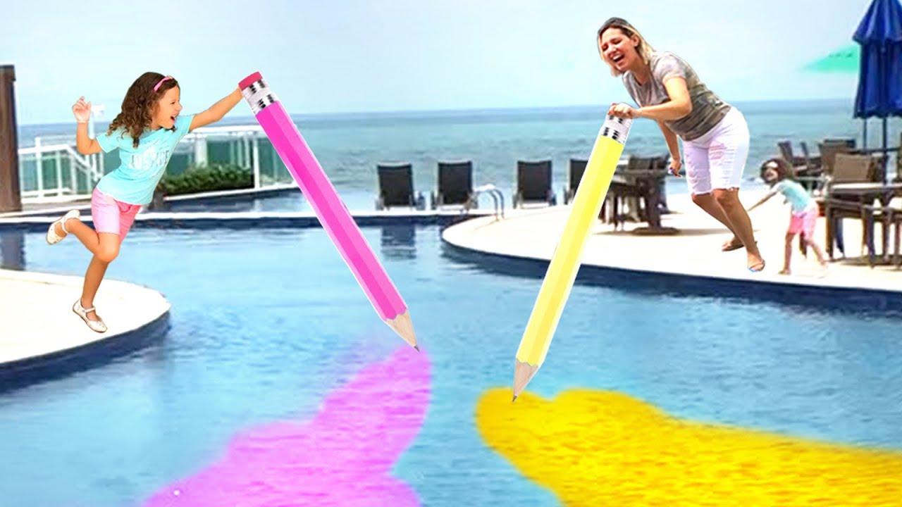 BRINCANDO E APRENDENDO CORES  Learn colors with magic pencil!!