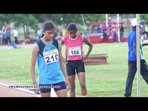 JUNIOR WOMEN'S  U20  400m RUN FINAL. 32nd  TAMIL NADU   JUNIOR ATHLETIC CHAMPIONSHIPS -2017