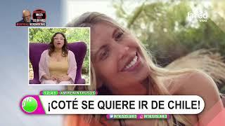 Lo hizo por amor a Mago Jiménez: el malestar de Coté López en Chile y que la hace querer irse