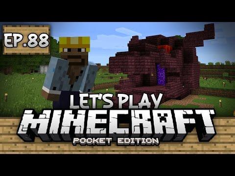 Survival Let's Play Ep. 88 - COOLEST PORTAL EVER!!! - Minecraft PE (Pocket Edition)