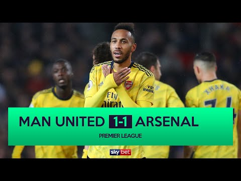 MANCHESTER UNITED 1-1 ARSENAL | AUBAMEYANG SECURES POINT FOR GUNNERS AFTER VAR CHECK