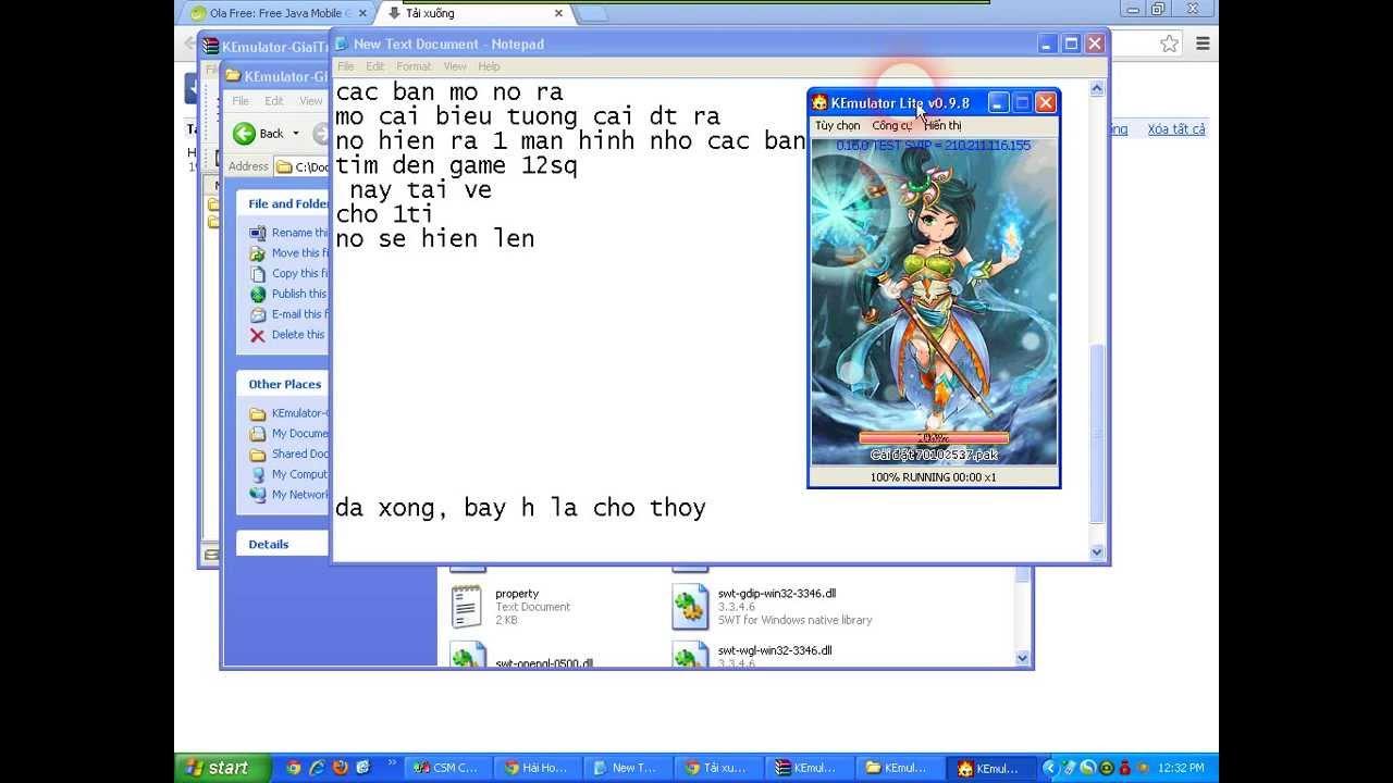 Hướng Dẫn Chơi Game 12 Sứ Quân Online Trên Máy Tính (Kemulator)
