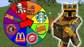 FAST FOOD WHEEL OF FORTUNE WITH EXTREME LARGE FOOD SUPPLIES / DON'T GET HUNGRY !! Minecraft Mod