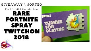😈 PC - FORTNITE HALLOWEEN GIVEAWAY SORTEO RARE TWITCHCON 2018 SPRAY 😈
