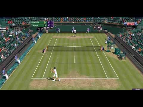 [ HD ] Roger Federer vs Mischa Zverev - Tie-Break | Wimbledon 2017 - Round Of 32 - 3D Animation