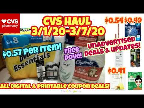 CVS Haul, Unadvertised Deals, and Updates 3/1/20-3/7/20! All Digital and Printable Coupon Deals!