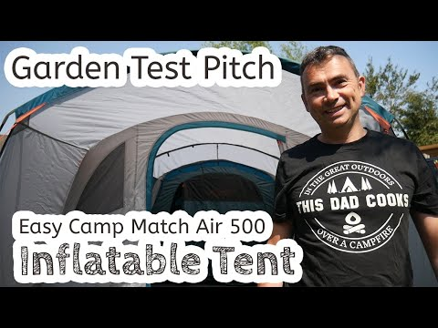 First test pitch of Easy Camp Match Air 500 ⛺️