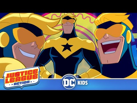 Top 5 Booster Gold Moments   Justice League Action   DC Kids
