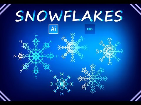 EASY WAY: HOW TO MAKE VECTOR SNOWFLAKES IN ADOBE ILLUSTRATOR TUTORIAL