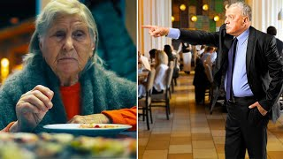 The manager of the restaurant kicked out this elderly woman. She seemed to be a beggar, but in fact…
