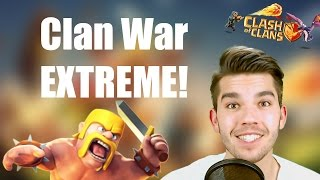 CLASH OF CLANS: Clan War Extreme! ✭ Let's Play Clash of Clans [Deutsch/German HD]
