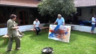 """""""Kunst ohne Grenzen""""-Vereinsausflug Teil 2 - """"Actionpainting"""""""