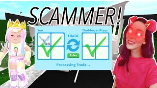 FAKE MEGAN PLAYS SCAMMED ME!! (ROBLOX ADOPT ME)