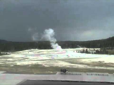 Plume Geyser Awakes in Yellowstone Aug 10, 2012