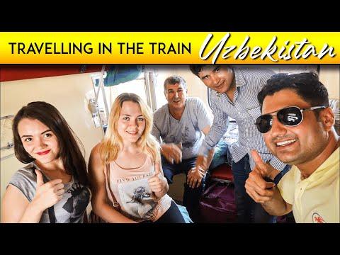 Samarkand to Tashkent Traveling in Train with Local Girls