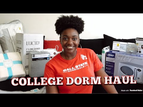 COLLEGE DORM HAUL ~BALL STATE UNIVERSITY 2018~