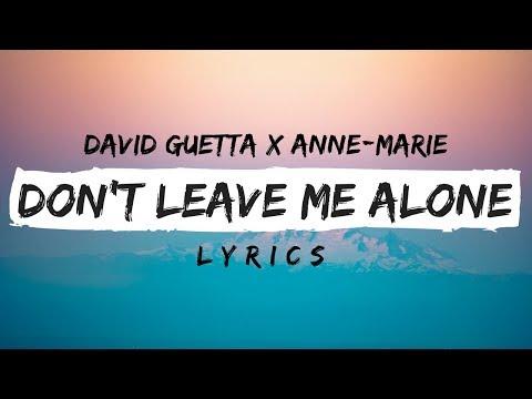 David Guetta Ft. Anne-Marie - Don't Leave Me Alone (Lyrics / Lyric Video)