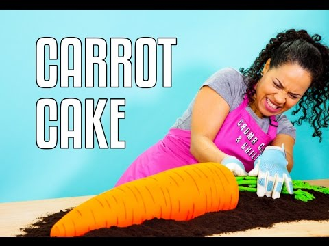 How To Make a GIANT CARROT out of CARROT CAKE! It's CARROT-CEPTION!