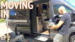 Moving Into Our New Home | Camper Van Life S1:E2