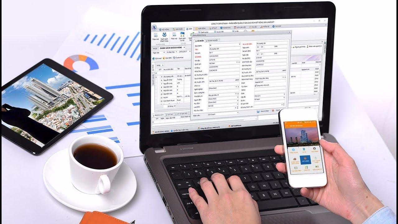 Phần mềm quản lý bất động sản Landsoft DIP Vietnam
